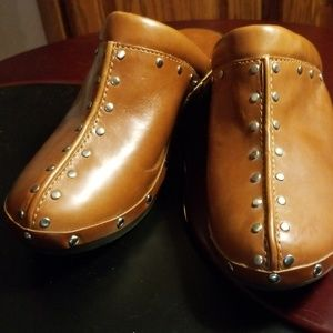 FLASH SALEMichael Kors Leather Studded Clogs 6.5 M